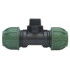 """Compression PP 90° tee for PE pipe IRRITEC with threaded male offtake 16x½"""" x16"""